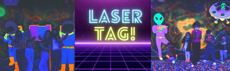 laser tag banner