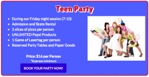 Birthday party teenagers
